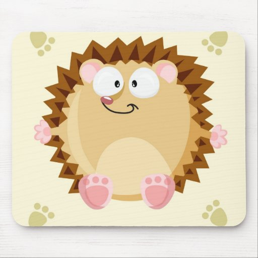 Cute circle Hedgehog Mouse Pads