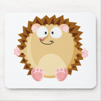 Cute circle hedgehog mouse pad