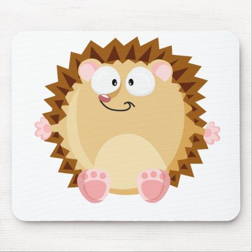 Cute circle hedgehog mousepad