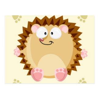 Cute circle Hedgehog Postcard
