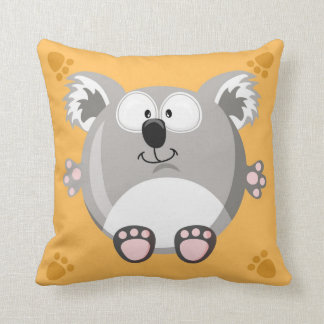 Cute circle koala bear cushion