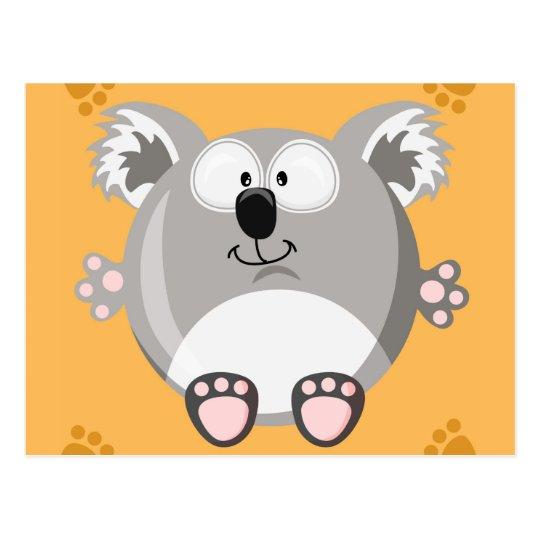 Cute circle Koala Postcard