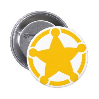 Cute circle sheriff badge