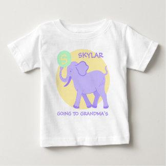 Cute Circus | Baby Monogram Going To Grandmas Baby T-Shirt