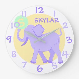 Cute Circus | Baby Nursery Fun Cartoon Elephant Clocks