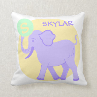 Cute Circus | Baby Nursery Fun Unisex Reversible Throw Pillow