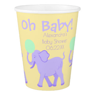 Cute Circus | Baby Shower Adorable Personalized Paper Cup