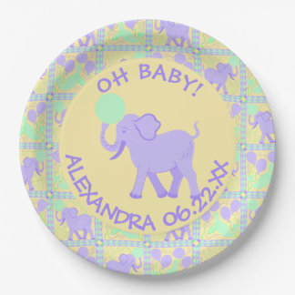 Cute Circus | Baby Shower Boy Or Girl Add A Name Paper Plate