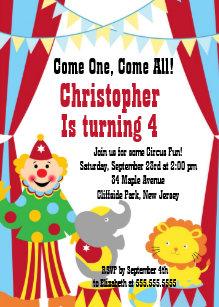 Clown Birthday Invitations Zazzle Uk