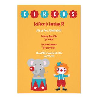 Cute Circus Kid s Birthday Invitation