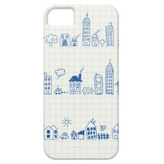 Cute Cityscape Pattern Barely There iPhone 5 Case