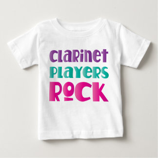 Cute Clarinet Players Rock Music Gift Baby T-Shirt
