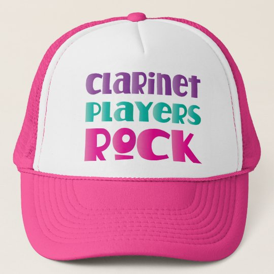 Cute Clarinet Players Rock Music Gift Cap