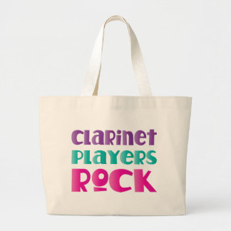 Cute Clarinet Players Rock Music Gift Large Tote Bag