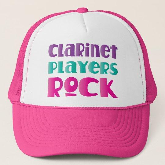 Cute Clarinet Players Rock Music Gift Trucker Hat