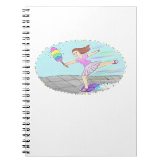 Cute Cleaning Lady Spiral Notebook