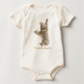 Cute Clingy Baby Coala Organic Bodysuit