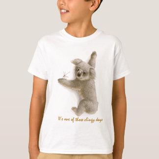 Cute Clingy Koala Toddler Tshirt
