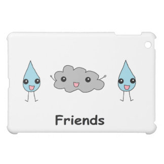 Cute Cloud and Raindrop Friends Case For The iPad Mini