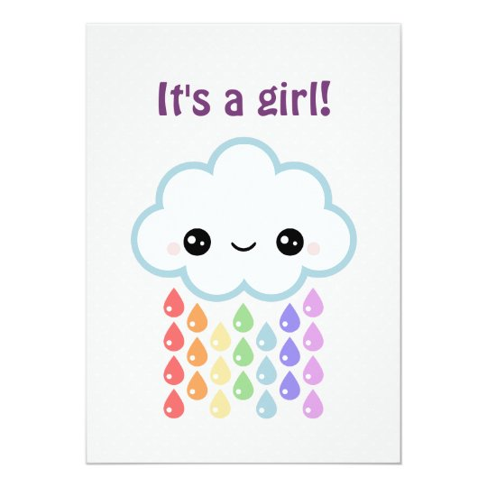 Cute Cloud Baby Shower Card