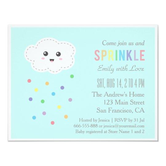 Cute Cloud Shower, Baby Sprinkle Invitations