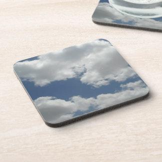 Cute Clouds Photo Print Coaster