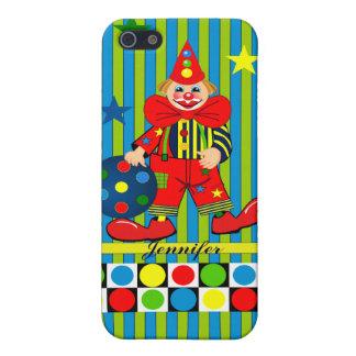 Cute Clown and Custom Name iPhone 5/5S Cover