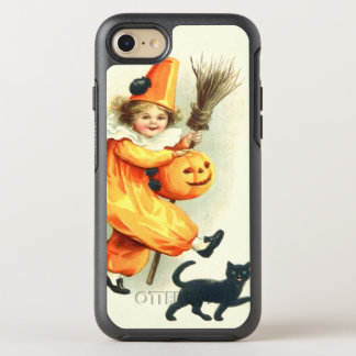 Cute Clown Black Cat Jack O Lantern OtterBox Symmetry iPhone 7 Case
