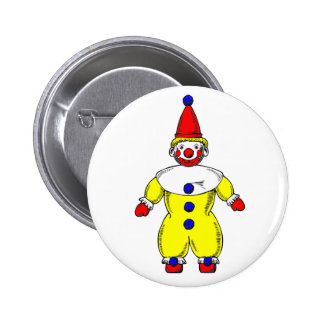 Cute Clown Button