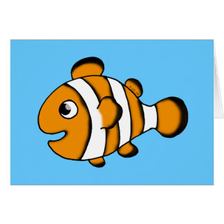 cute clown fish card