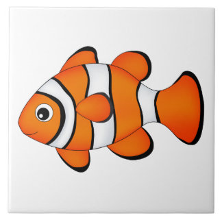 cute clown fish tile