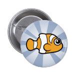 Cute Clownfish Pinback Button