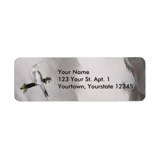 Cute Cockatiel Address Label