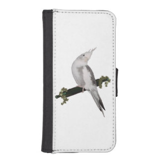 Cute Cockatiel on Ivy Perch iPhone SE/5/5s Wallet Case