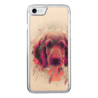 Cute Cocker Spaniel Design Carved iPhone 7 Case