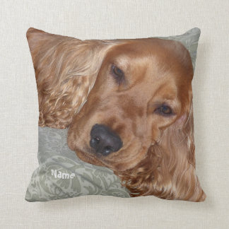 Cute Cocker Spaniel Gifts personalized Cushion