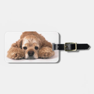 Cute Cocker Spaniel Luggage Tag