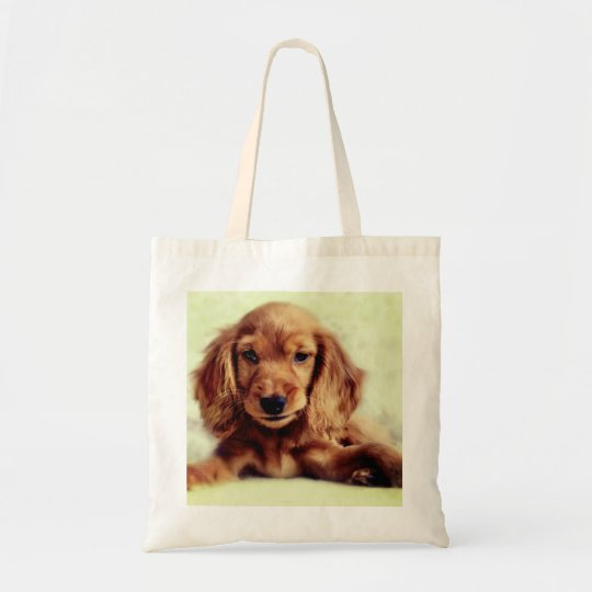 Cute Cocker Spaniel Puppy Dog Tote Bag