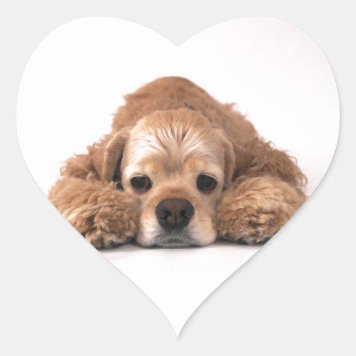 Cute Cocker Spaniel Heart Stickers