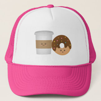 Cute Coffee and Donut, You complete me Trucker Hat