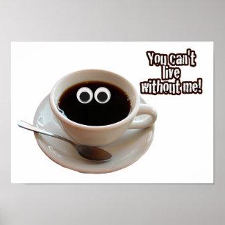 Cute Coffee Cup Print