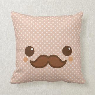 Cute coffee mustache cushion