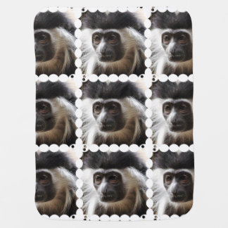 Cute Colobus Monkey Swaddle Blankets