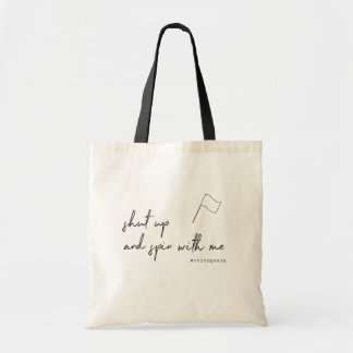 Cute Color Guard Shut up and Spin with Me Tote Bag