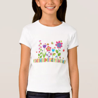 cute colored floral t-shirt