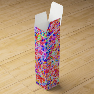 Cute colorful abstract lines painting wine box