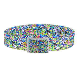 Cute colorful abstract painting belt