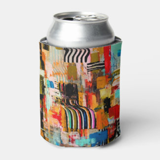 Cute colorful abstract painting can cooler