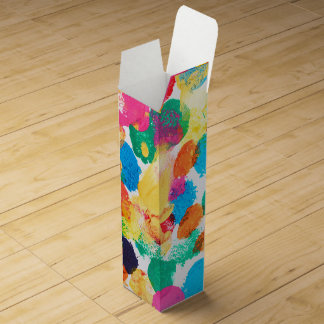 Cute colorful abstract painting wine gift box