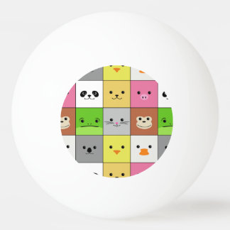Cute Colorful Animal Face Squares Pattern Design